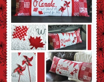 O Canada Bench Pillow Kit designed by KimberBell