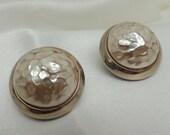 Vintage Oversize Faux Pearl Clip On Earrings
