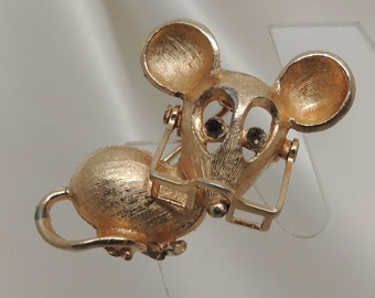 Vintage Avon Mouse with Glasses Pin