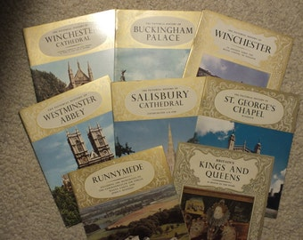 8 Pitkin Pride of Britain Books - Winchester Cathedral, Buckingham Palace, Winchester, Westminister Abbey, Salisbury Cathedral