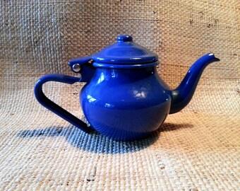 French vintage enamel teapot