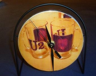 U2 Love  Recycled CD Clock Art