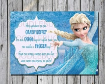 Frozen Candy Buffet Printable Sign-INSTANT DOWNLOAD