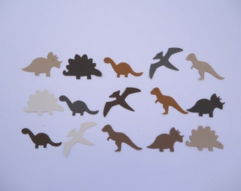 Dinosaur Die Cuts x 15 Brown Tones for Cards Scrapbooking  and Paper Crafts Embellishment Paper