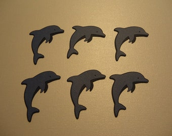 Leaping Dolphin Die Cuts x 6 For Scrapbooking Cards and Paper Crafts Dolphins