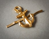 Vintage metal badge, Soviet Russian Navy uniform