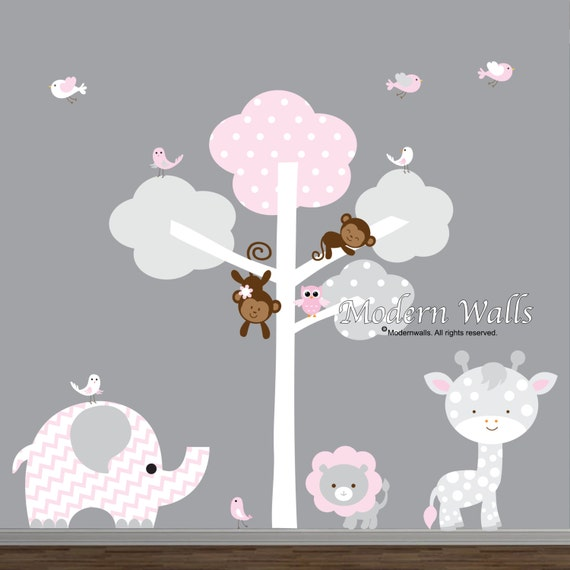 Vinyl Wall Decals Jungle Nursery Wall Decal Stickers-Wall Art