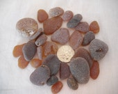 Sea Glass Genuine Frosty Brown Sea Glass From Pacific Northwest
