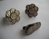 Vintage Cufflinks Emperor Coin And Tie Clip Pat Pend