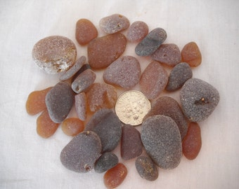 Genuine Frosty Brown Sea Glass From Pacific Northwest