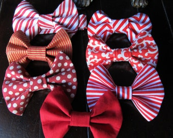 Boys Bow Ties, Red Boys Bowties, Boys Bowtie, Red boys bowtie, Wedding BowTie, Bow Tie made by Two L Creations