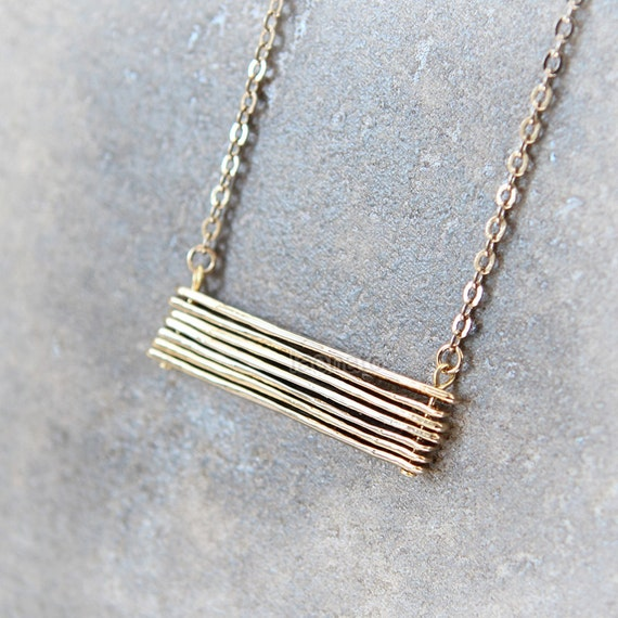 Stacked Bar necklace