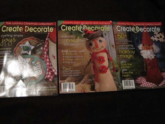 3 issues create decorate magazine crafts needlework back for Create and decorate magazine free