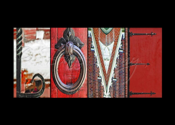 LOVE Alphabet Photography Letter Art In Color Various Sizes