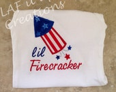 Lil Firecracker Fourth of July Shirt