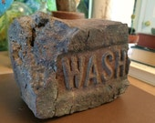 Wash brick fragment bookend for catie