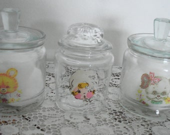 No.1503 A set of vintage nursery glass jars