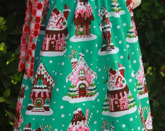 Gingerbread House Pillowcase Dress