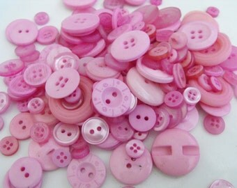 Lavender Buttons, 100 Bulk Assorted Round Multi Size Crafting Sewing ButtonsRound Multi Sizes