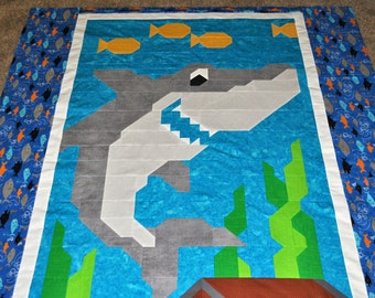Chopsitcks quilt pattern Twin size : shark quilt - Adamdwight.com