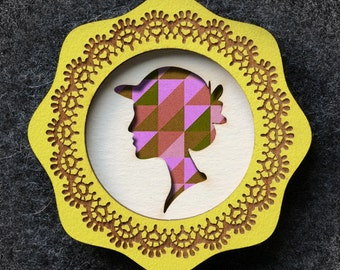 Design It Yourself Cameo Brooch - Round