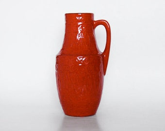 West German Red Vase - Scheurich 60s