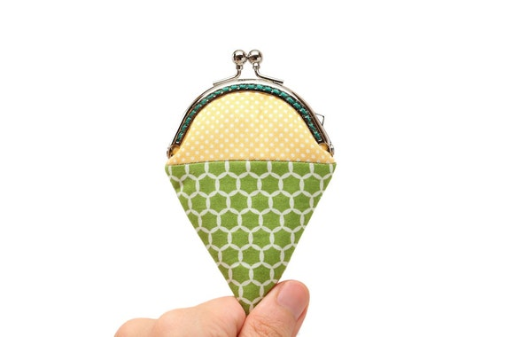 Key lime mint ice cream mini coin purse by misala on Etsy