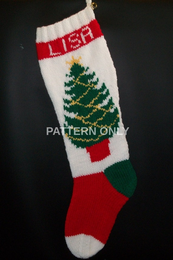 Pdf Pattern Only Hand Knitted Christmas Tree By
