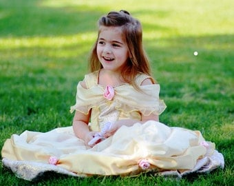 Deluxe Belle Yellow Ballgown Disney Princess Dress Size 4T Beauty and the Beast costume