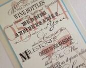 Wine Bottle Guest Book Sign Wedding Anniversary