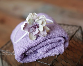 Lilac Baby Wrap Set. Newborn Wrap Set, Newborn Photo Pop, Stretch Baby Wrap, Baby Headband, Lilac Newborn Wrap, Lilac Baby Wrap