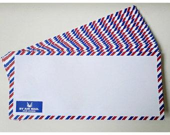 10 White Air mail envelopes