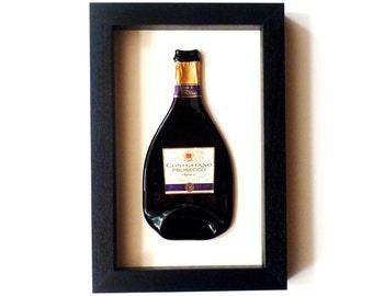 Glass Bottle Keepsake ~ Custom Framed DIY memento Wedding Engagement Baby Retirement Anniversary Exams Valentine's, wine, beer, champagne