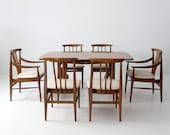 mid century modern dining set, table and 6 chairs