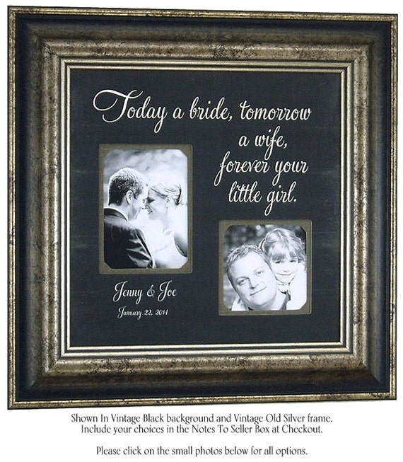 Wedding Frame Gifts For Parents Of The Bride Etsy Rainbows