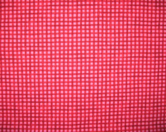 Candy Brights by SSI Studios  red and hot pink plaid 1/2 yard X 42""