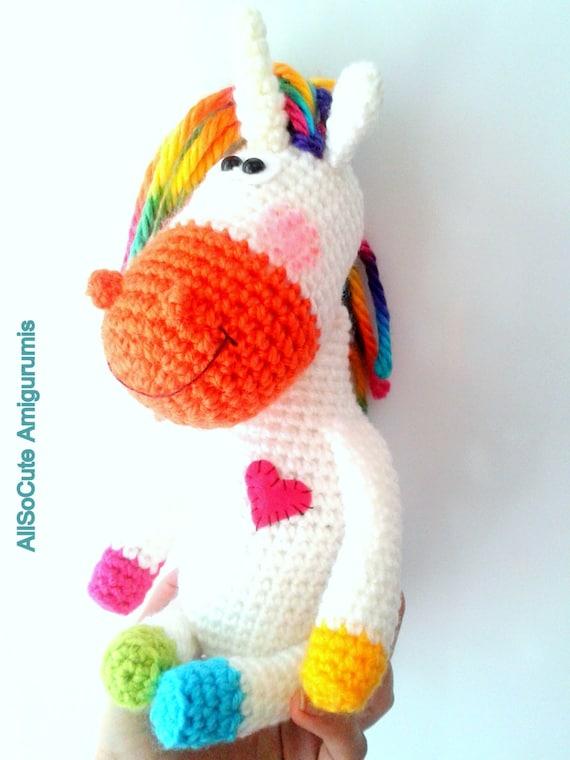 Amigurumi Pony Tutorial : CROCHET PATTERN Horse Pattern Crocheted Pony Horse
