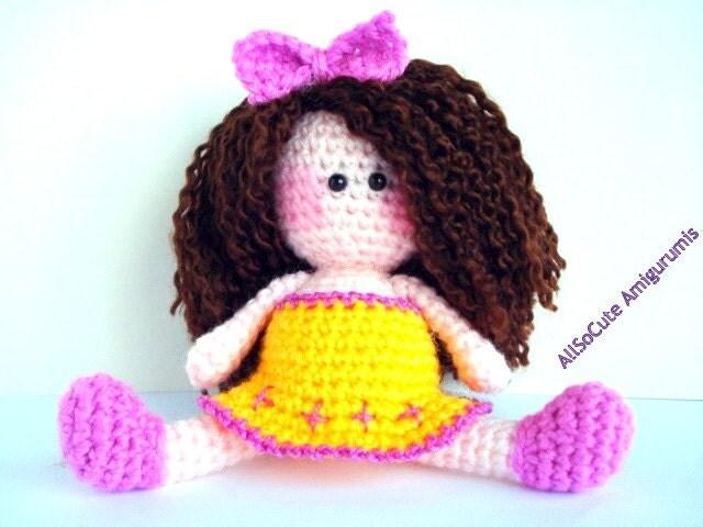 Amigurumi Girl Tutorial : Pattern Amigurumi Doll Pattern Amigurumi Girl Pattern by ...