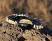 Black Dichroic Hemp Bracelet