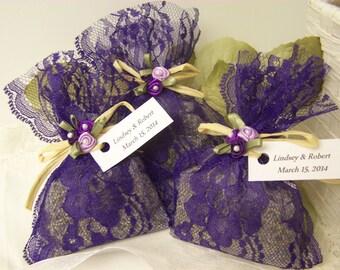 50 wedding favors sachets, lavender sachets, wedding day, purple sachets, wedding sachets
