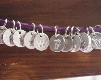 Clearance -randomly mixed from a to z 50 pcs-initial letter-alphabet charms-F996