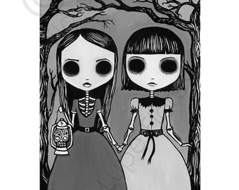 Creepy Night 8x10 art print by Lupe Flores