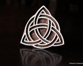 Celtic Triquetra, Celtic Trinity Knot: Indian Wood Stamps, Batik Stamps, Tjaps, Wood Block Stamps, Textile Stamps, Pottery Stamps