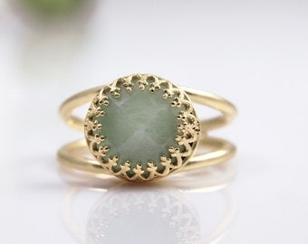 Amazonite ring,gold ring,solid gold option,all sizes for rings,gemstone ring,delicate ring,everyday ring,blue ring