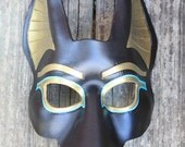 Anubis Egyptian Death God Leather Mask Made To Order Great for Halloween Burning Man Masquerade Costume Larp Cosplay