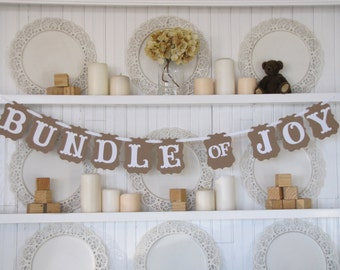 BUNDLE OF JOY   Baby Banner, Baby Shower Banner, Baby Sign, New Baby, Baby Girl Banner, Baby Boy Banner