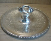 Silver Plate Chip & Dip Vegetable Tray Wm Rogers #866 Discontinue 1878-1976