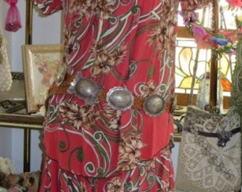 Bohemian Peasant BLOUSE and Matching SKIRT - 2 Piece Set - Country Chic -  Size - Small - Medium - SALE