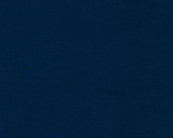 Navy, Kona Cotton, Robert Kaufman Fabrics, 1/2 Yard