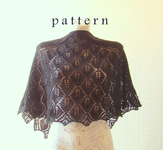Fall in Leaf Shawl Knitting Pattern prayer shawl knitting by PureCraft Etsy